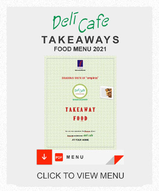 Deli Cafe Take Away Food Menu - empires Bhubaneswar